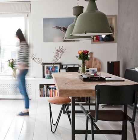 Mesas de comedor estilo industrial paperblog for Mesa comedor estilo nordico