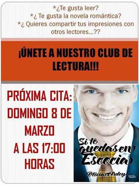 SI TE QUEDAS EN ESCOCIAL, libro del Club de Lectura en Granada