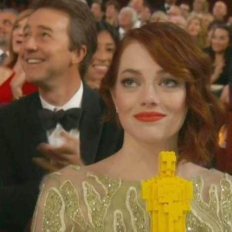 emma stone, lego oscar, Oscars 2015, todo es fabuloso, el zorro con gafas