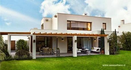 Modelos casas cool fachada de casa de un piso con techo for Terrazas economicas chile