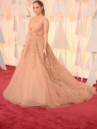 Jennifer Lopez en los premios oscars 2015