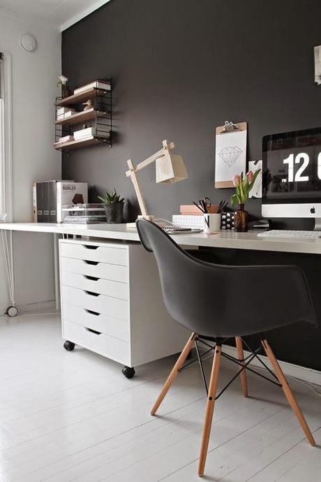 Ideas deco crea tu oficina en casa paperblog for Deco oficina