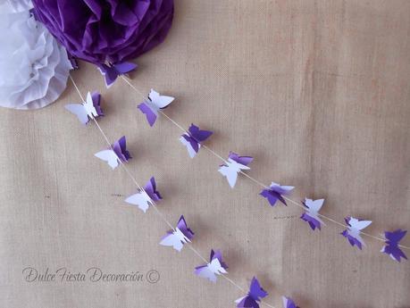 Diy pompones de papel y guirnaldas mariposas paperblog - Como hacer mariposas de papel para decorar paredes ...