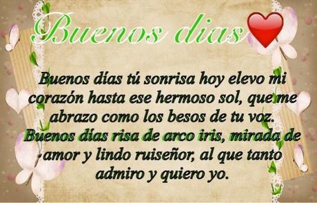 Buenos Días Corazón Paperblog