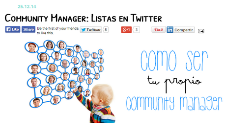 Community Manager: ¡Comparte tus entradas en facebook!