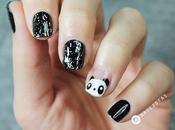 Uñas decoradas animales paso Panda Nail