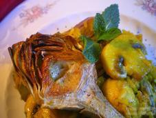 Arroz alcachofas champiñones