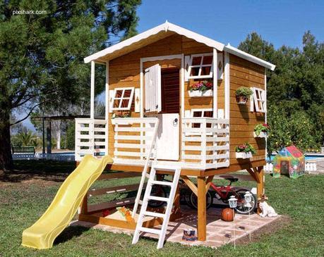 16 modelos de casitas de madera para el jard n paperblog - Come costruire una casa in miniatura ...