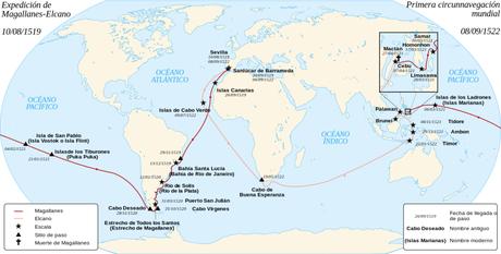 Viaje de Magallanes - Elcano   FUENTE: wikipedia.org