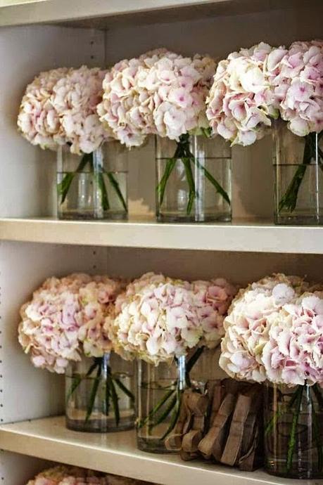 Plantas de interior y otras decorar con hortensias for Adornos para bodas con plantas