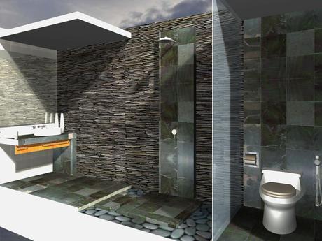 Fotos ba os decorados con piedra paperblog for Banos de madera y piedra