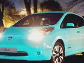Nissan Leaf, primer auto brilla oscuridad