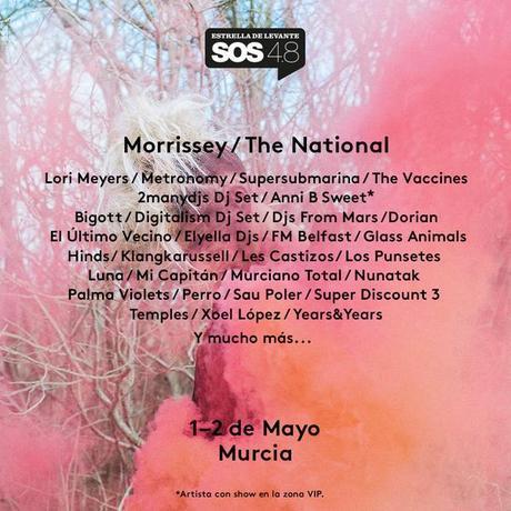 cartel SOS 4.8  -Solo festival