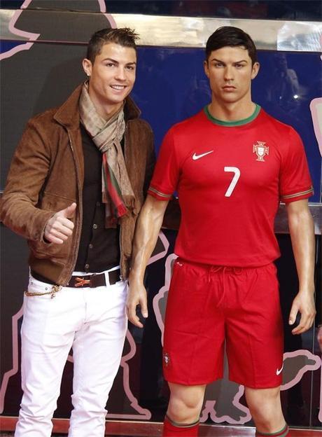 Cristiano Ronaldo figura museo de cera