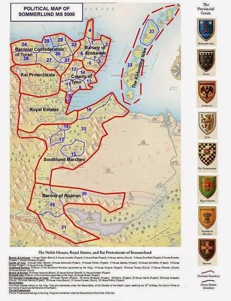 Escudos de armas de las provincias de  Sommerlund