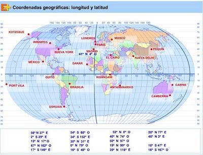En esta Web de Educaplus, podéis practicar con las coordenadas ...