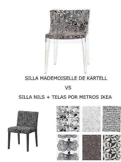 Parecidos razonables sillas mademoiselle de kartell vs silla nils ikea paperblog - Sillas con reposabrazos ikea ...