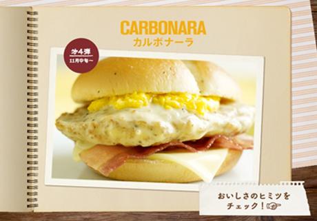 Hamburguesa Carbonara