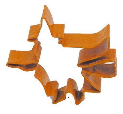 moldes cortadores de galleta con forma de bruja para halloween