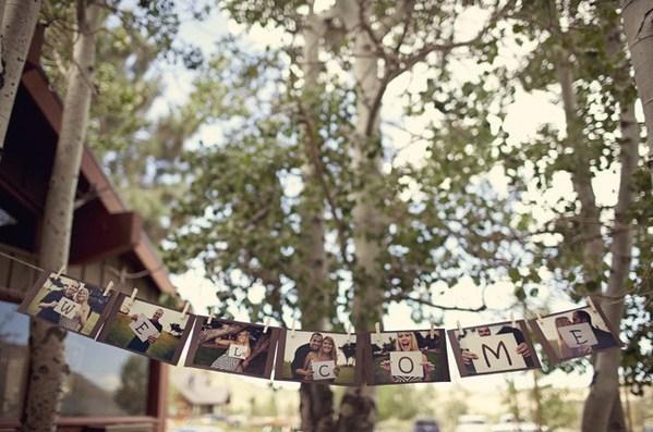 Cartel De Bienvenida  Fotos De Los Novios Con Letras