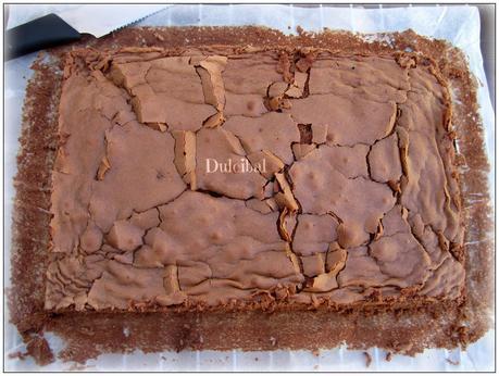 BROWNIE DOS CHOCOLATES CON CERVEZA NEGRA