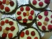 Mascarpone, chocolate blanco frambuesas vasitos tartitas