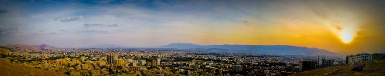 Panoramic view of Shiraz from Shahid Dastghayb Ddormitory.