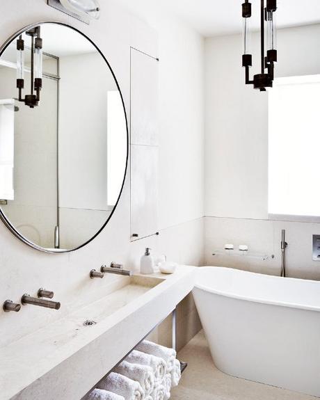 Tendencias espejos redondos en ba os paperblog for Espejo redondo grande