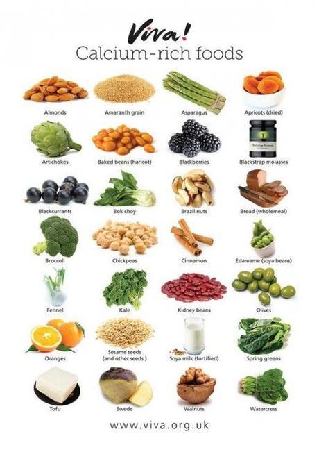 Alimentos Vegetales Ricos en Calcio - Paperblog