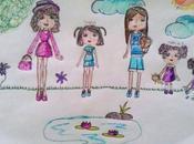 Rebe, Sara, María, María pequeña Isabel