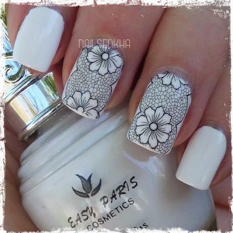 Nail Art Rose Flower