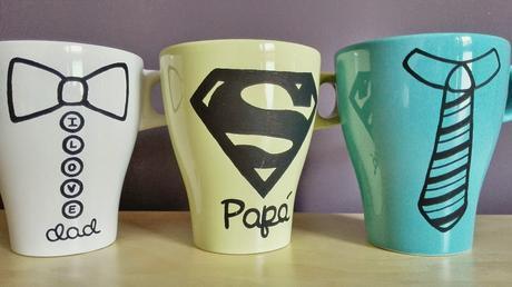 Tazas pintadas a mano para pap s paperblog - Tazas decoradas a mano ...