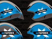 Aerografía casco Rudy wing57 para Sergi Notepares team