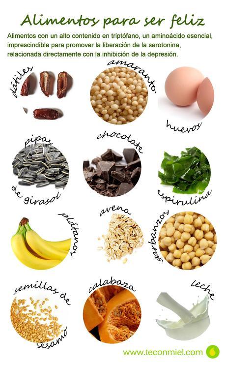 alimentos que ayudan a ser feliz