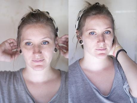 antes y despues cejas rellenas rubia