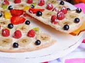 Pizza fruta queso Philadelphia