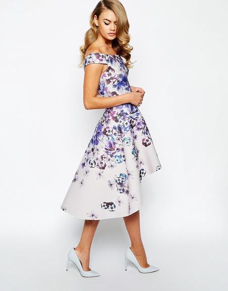 Vestidos midi flores ceremonias 2015 paperblog for Dress shoes for wedding guest
