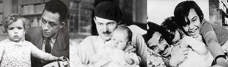 Grandes escritores con sus hijos padres