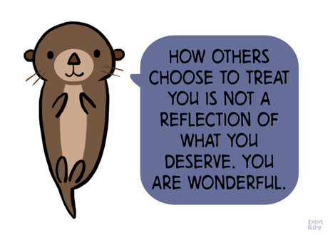 Cute otter giving advice, from emm's positivity blog
