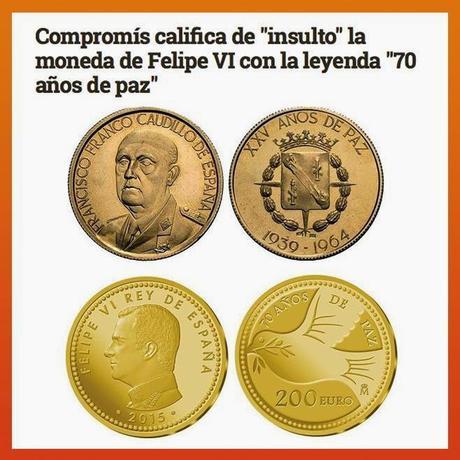 """La moneda de Felipe VI es un """"insulto""""."""