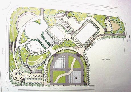 Proyecto de zona verde p blica zonificaci n y estructura for Plantas ornamentales para parques