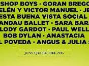 Festival Pedralbes 2015: Dylan, Shop Boys, Paul Weller, Anastacia, Jessie Miguel Poveda...
