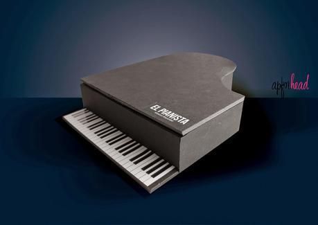 Freebie: caja con forma de piano.