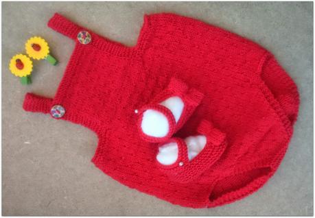 Patrón de punto -Pelele para bebé tejido con agujas circulares ...