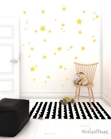 Decorar con papel pintado de estrellas paperblog - Decorar dormitorio con papel pintado ...