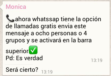 bulo sobre WhatsApp
