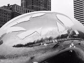 """escultura """"Puerta nubes"""" hartó tiempo Chicago"""