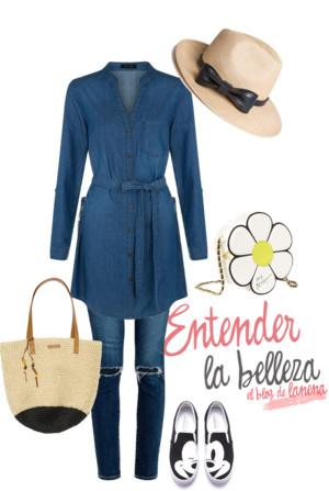 Look Denim vestido