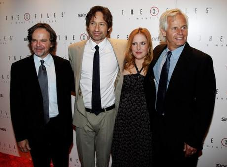 The-X-Files-Frank-Spotnitz-David-Duchovny-Gillian-Anderson-And-Chris-Carter