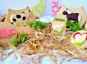 Galletas chocolate (petit ecolier) animalitos granja para e'cakes
